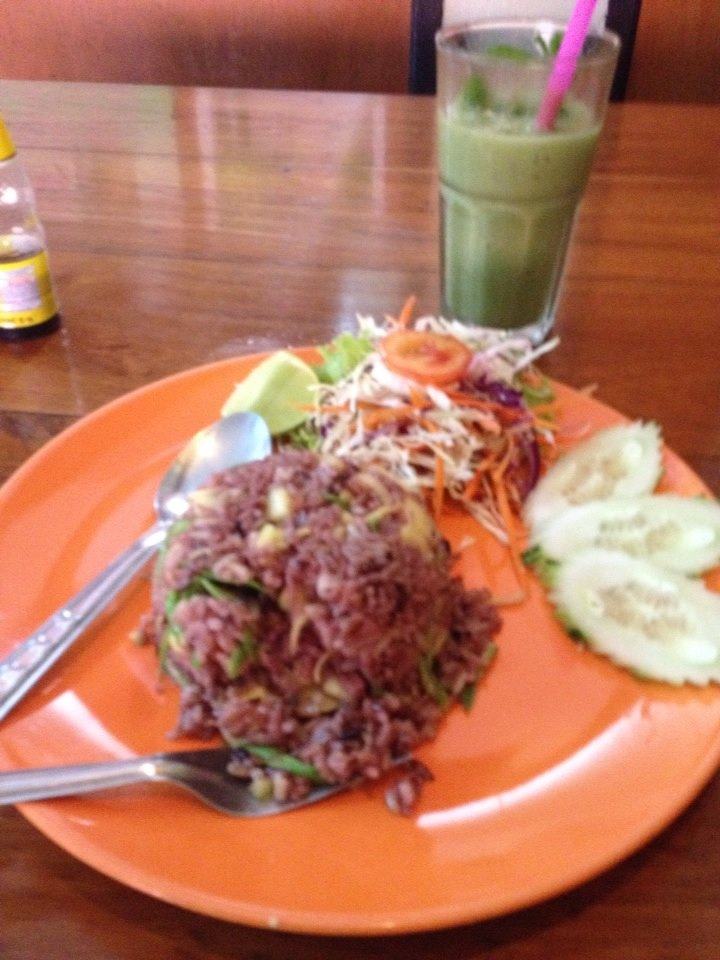 rice and green drink